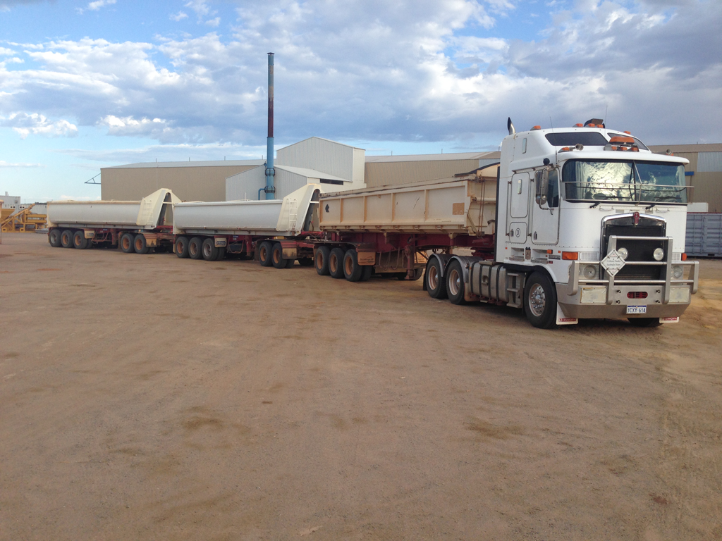 road trains for wet or dry hire in Geraldton WA