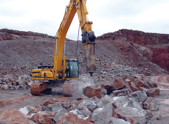 rock breaker  for wet or dry hire in Geraldton WA